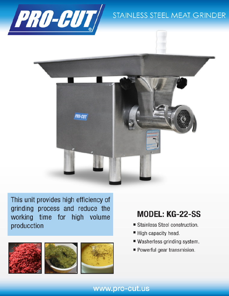 Pro Cut Grinder ~ Procut kg w ss meat grinder stainless steel ebay